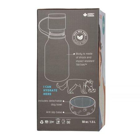 Asobu - Dog Bowl Bottle Tritan Niebieska - Butelka z miską dla psa 1,5L