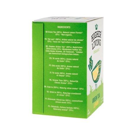 Higher Living Green Tea Lemon - herbata - 20 saszetek