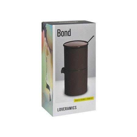 Loveramics Bond - Cukiernica + dzbanek na mleko + łyżeczka - Brown