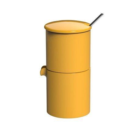 Loveramics Bond - Cukiernica + dzbanek na mleko + łyżeczka - Yellow