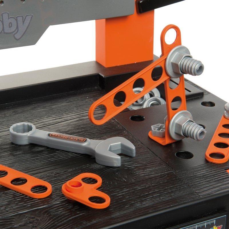 SMOBY Zestaw Black+Decker Duży Warsztat Bricolo One + Smoby Skrzynka z narzędziami 85 akcesorii