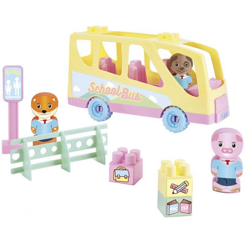 Ecoiffier Abrick Autobus szkolny z akcesoriami