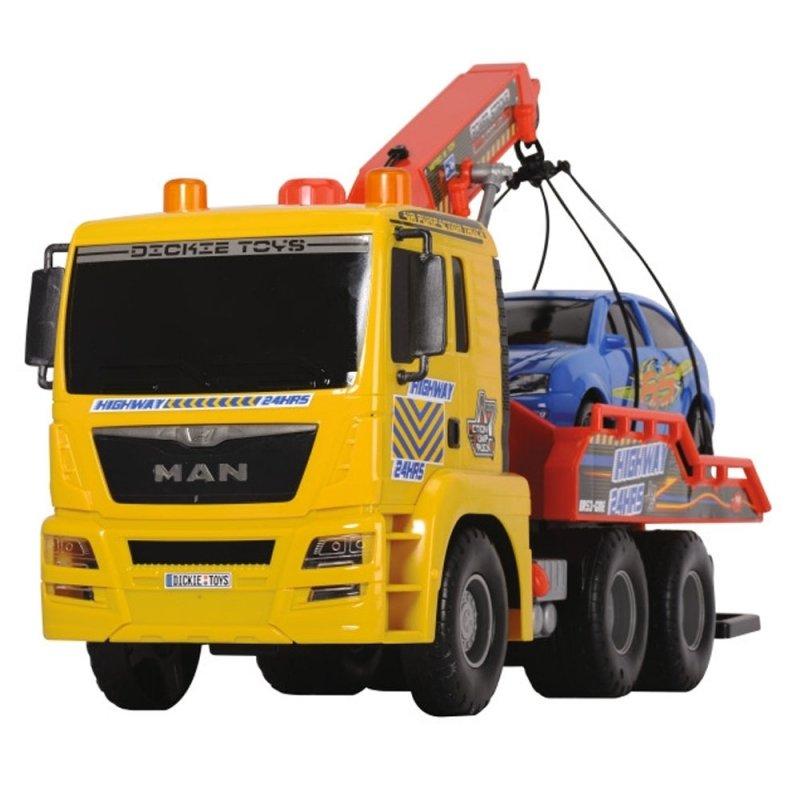 DICKIE Air Pump Laweta MAN z pompką 55cm + Samochód Osobowy