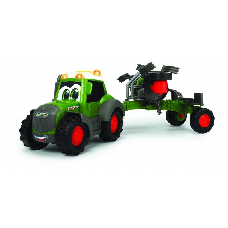 DICKIE Happy Traktor Fendt i Przetrząsacz Światło Dźwięk