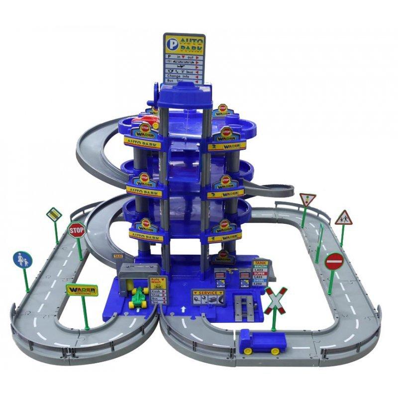 Wader Wielki garaż Auto Park 3 auta Myjnia Tor 4 poziomy