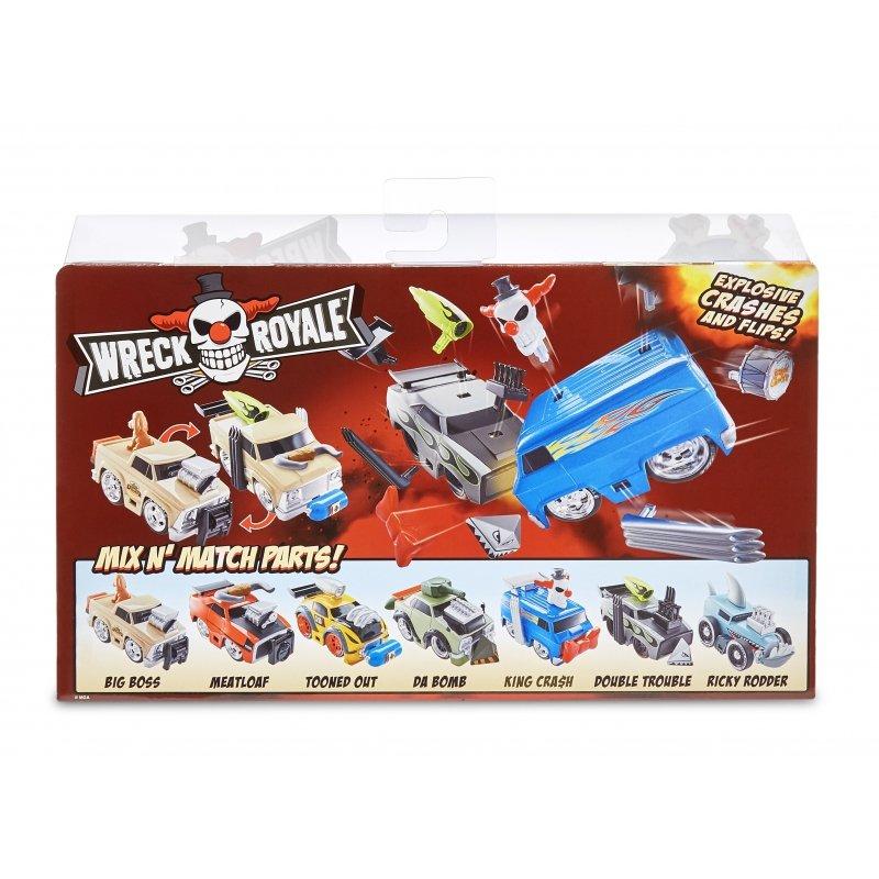 Wreck Royale 2-Pack Eksplodujące Autka Double Trouble vs. King Crash