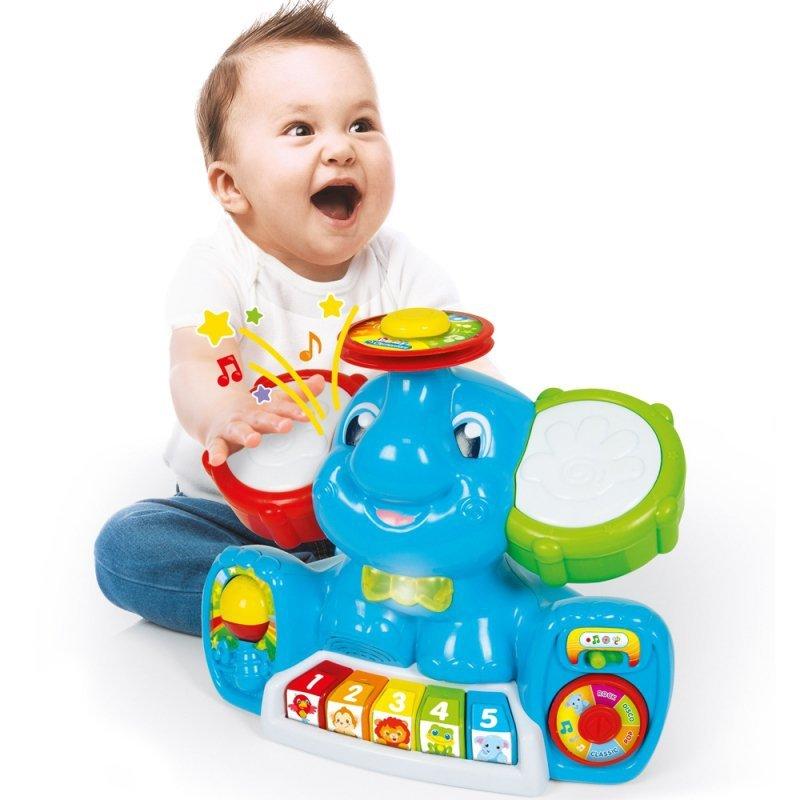 Muzyczny Słonik Wielojęzyczna interaktywna zabawka edukacyjna Baby Clementoni