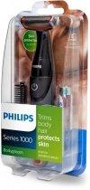 Philips BODYGROOM Series 1000 Golarka do ciała dla mężczyzn — system ochrony skóry