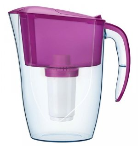 Dzbanek AQUAPHOR Dalia + wkład B100-5 (2,5 litra; kolor różowy)