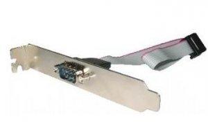 Adapter GEMBIRD CCDB9RECEPTACLE (DB9 M - DB9 F; 0,25m; kolor srebrny)