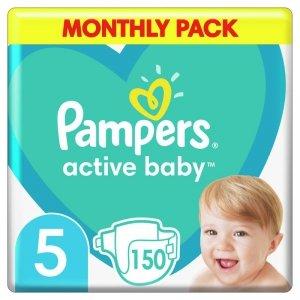 Pampers Zestaw pieluch Active Baby MTH Box 5 (11-16 kg); 150