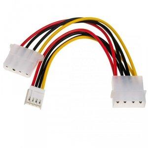 Kabel Akyga AK-CA-14 (Molex 4-pin F - miniMOLEX, Molex 4-pin M; 0,15m; wielokolorowy)