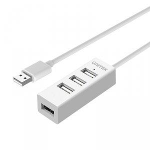 UNITEK HUB 4X USB 2.0 - BIAŁY, Y-2146