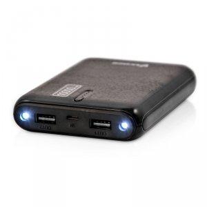 PowerBank VAKOSS TP-2569K (10000mAh; microUSB, USB typ A; kolor czarny)