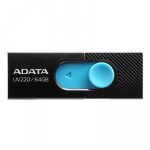 Pendrive ADATA UV220 AUV220-64G-RBKBL (64GB; USB 2.0; kolor czarny)