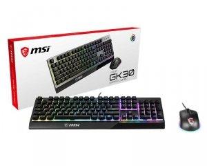 Zestaw klawiatura + mysz membranowa MSI Vigor GK30 COMBO US MSI Vigor GK30 COMBO US (USB; (US); kolor czarny)