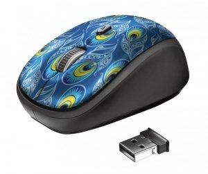 Mysz Trust Yvi Wireless Peacock 23388 (optyczna; 1600 DPI; kolor niebieski)