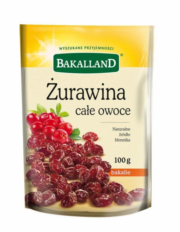 Żurawina całe owoce Bakalland 100g