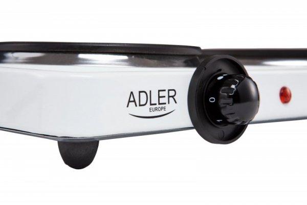 Adler AD 6504 piec Wolnostojący Czarny, Biały Elektryczny