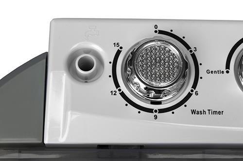 Adler CR 8052 pralka Wolnostojący Od góry 3 kg Szary, Biały