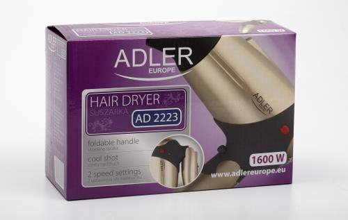 Suszarka do włosów Adler AD 2223 (1600W; kolor złoty)