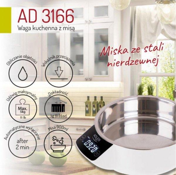 Adler AD 3166 waga kuchenna Elektroniczna