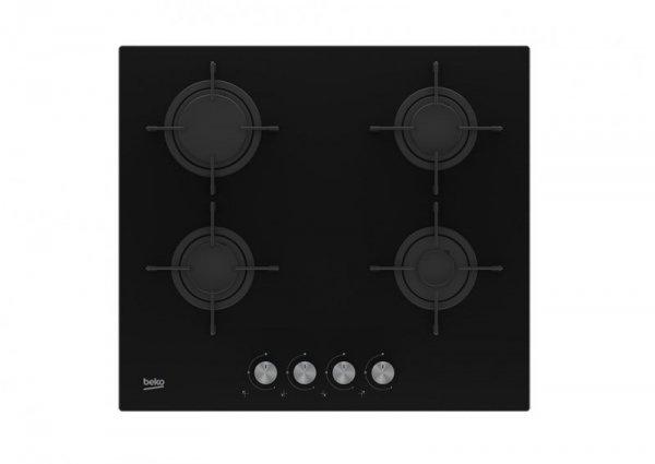 Płyta gazowa Beko HILG64220S (4 pola grzejne; kolor czarny)