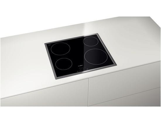 Bosch PKE645B17E płyta kuchenna Czarny, Stal nierdzewna Wbudowany Ceramiczna 4 zone(s)