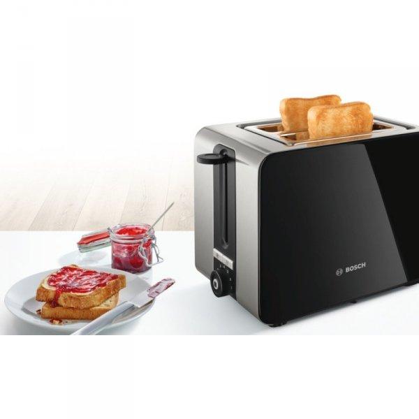 Bosch TAT7203 toster 2 kawałek(i) Czarny, Stal nierdzewna 1050 W