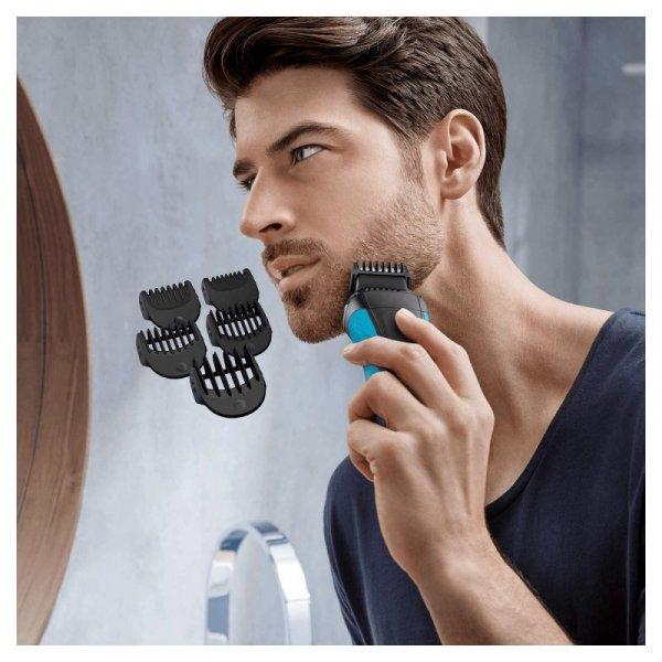 Braun Series 3 Shave&Style 3010BT Golarka foliowa Przycinarka Czarny, Niebieski