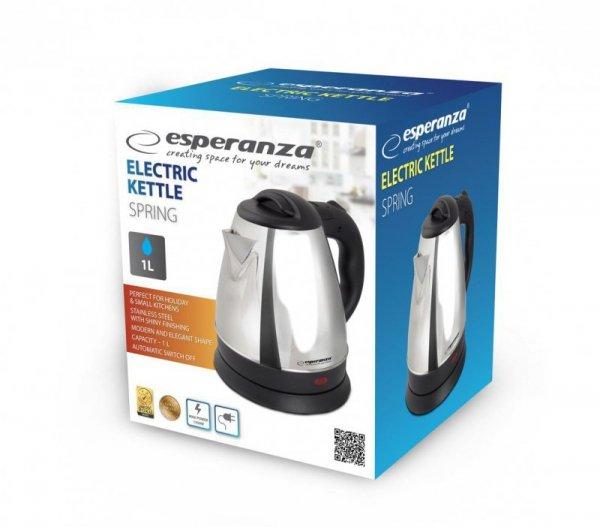 Czajnik elektryczny Esperanza Spring EKK016S (1350W 1l; kolor srebrny)