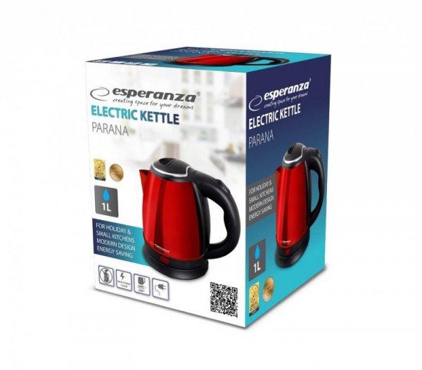 Esperanza EKK028R Czajnik elektryczny Parana 1 L, Czerwony 1350 W