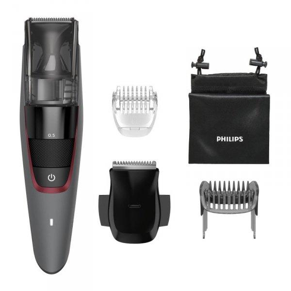 Philips BEARDTRIMMER Series 7000 Trymer z zasys. ściętego zarostu i precyz. ust. dług. co 0,5 mm