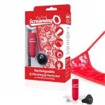 Wibrujące majteczki - The Screaming O Charged Remote Control Panty Vibe Red