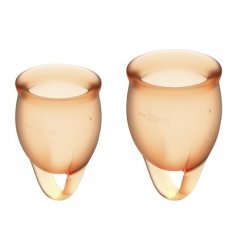 Feel Confident Menstrual Cup Set Orange