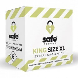 Prezerwatywy - Safe King Size XL Condoms 5 szt