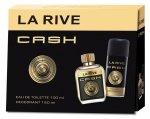 La Rive La Rive for Men Cash Zestaw/edt90ml+deo150ml/