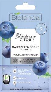 Bielenda Blueberry C-TOX Maseczka Smoothie do twarzy nawilżająco-rozświetlająca 8g