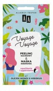 AA Voyage Voyage Peeling olejkowy + Maska kremowa 2w1 Olejek Monoi i Hibiskus  2x5ml