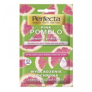 Perfecta Pink Pomelo Peeling złuszczający+Maska mus wygładzająca do stóp  12ml