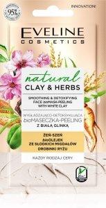 Eveline Natural Clay & Herbs Bio Maseczka - Peeling z białą glinką  8ml