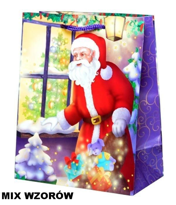 Torebka świąteczna ozdobna L