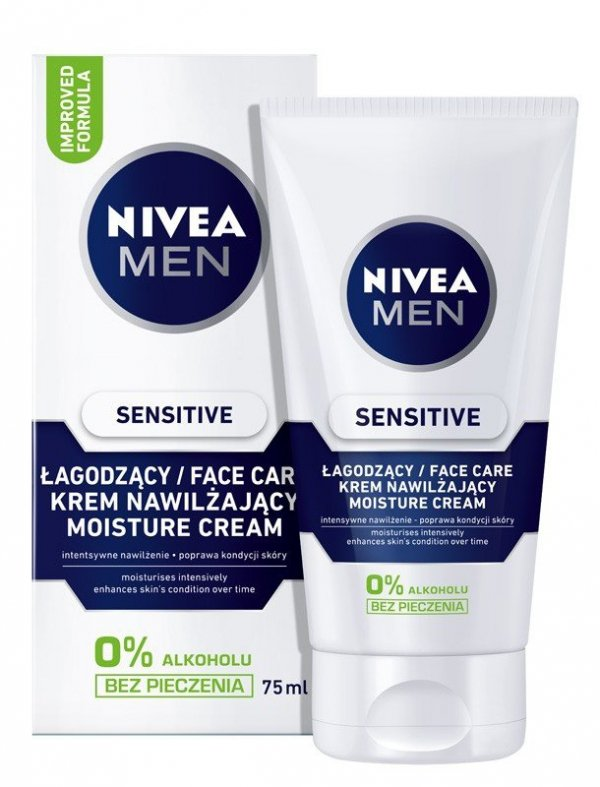 NIVEA FOR MEN Sensitive Łagodny krem do twarzy  75ml