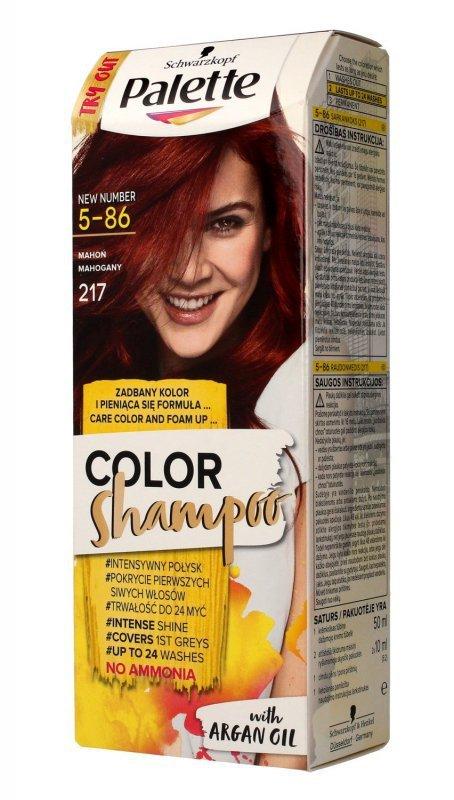 Palette Color Shampoo Szampon koloryzujący  nr 5-86 (217) Mahoń  1op.