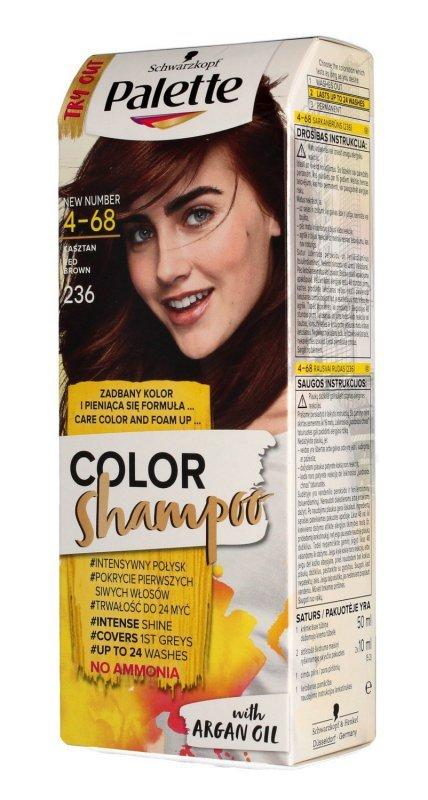 Palette Color Shampoo Szampon koloryzujący  nr 4-68 (236) Kasztan  1op.
