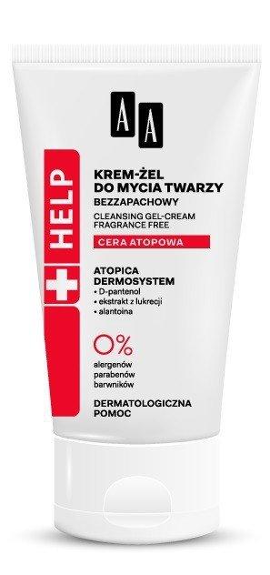 AA HELP Cera Atopowa Krem-żel do mycia twarzy  125ml