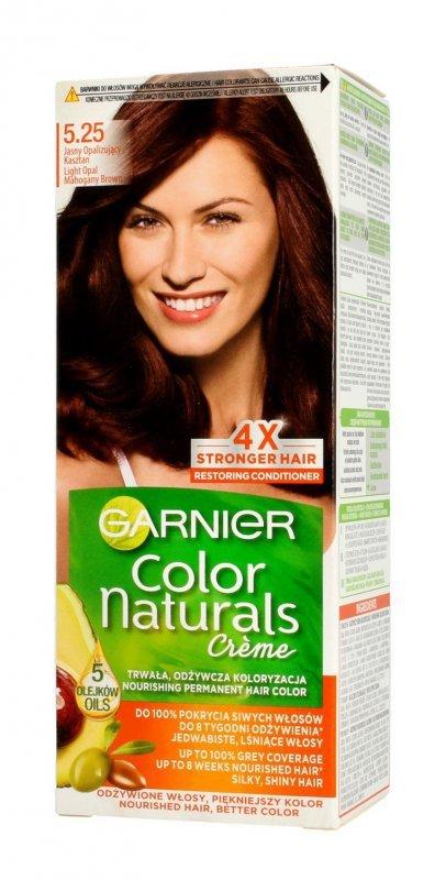 Garnier Color Naturals Krem koloryzujący nr 5.25 Jasny Opalizujący Kasztan  1op