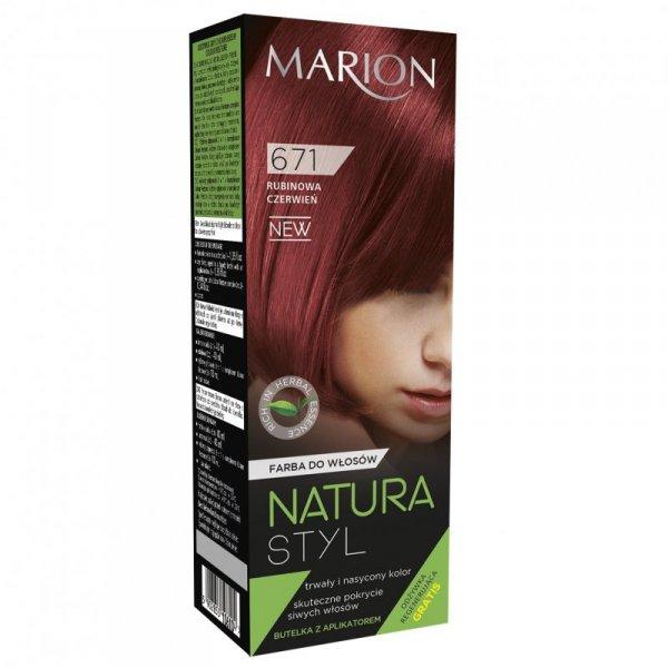 Marion Farba do włosów Natura Styl nr 671 rubinowa czerwień