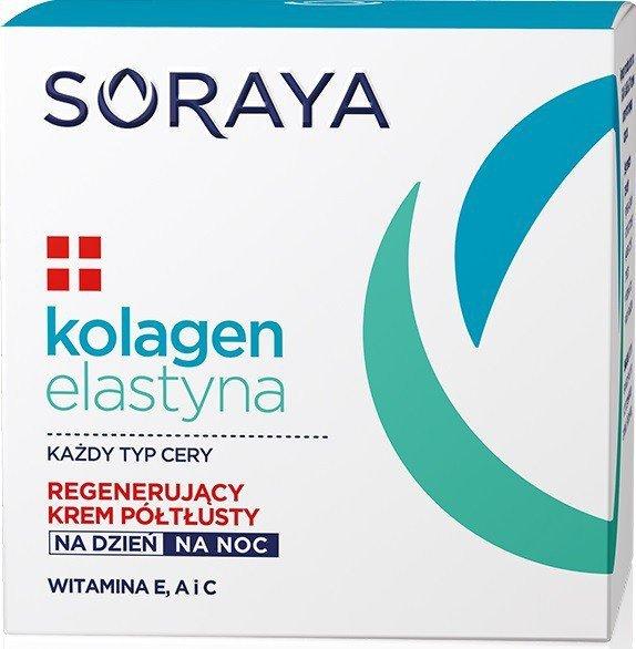 Soraya Kolagen Elastyna Regenerujący Krem półtłusty na dzień i noc 50ml