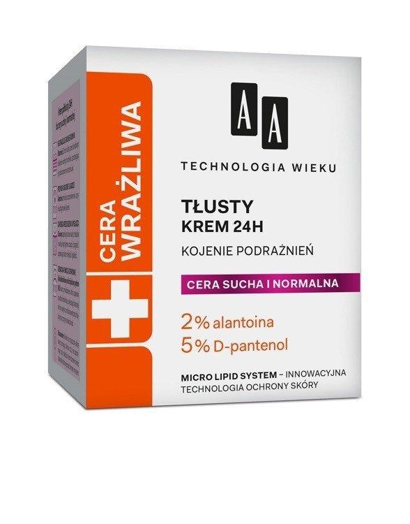 AA Technologia Wieku Cera Wrażliwa Krem tłusty do cery normalnej i suchej  50ml
